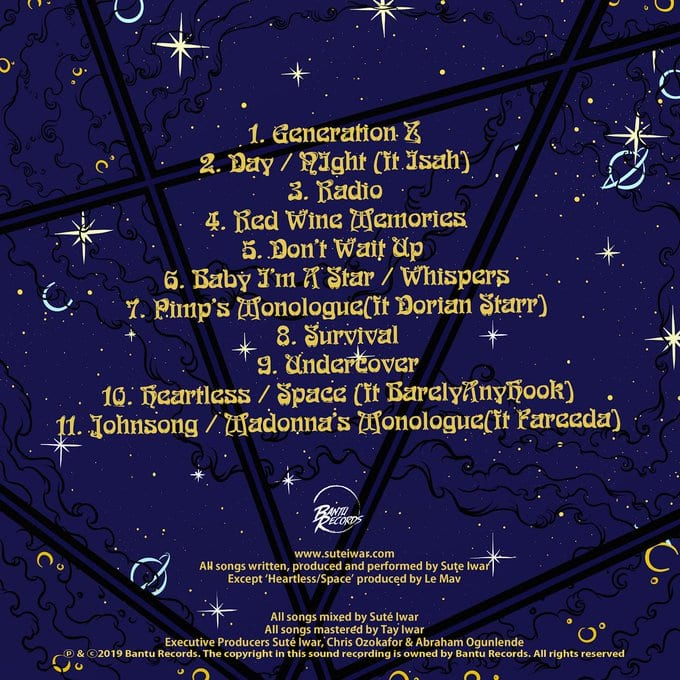Tracklist For Paradise