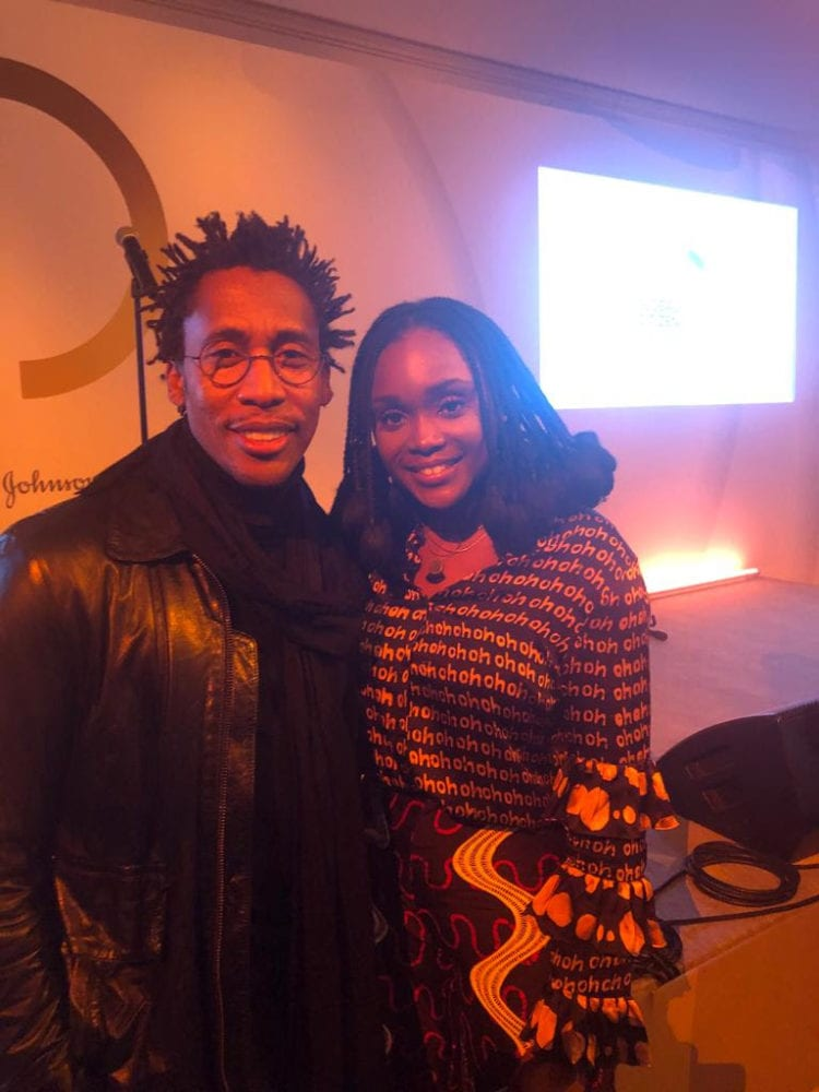 Falana With Raphel Saadiq After Her Performance