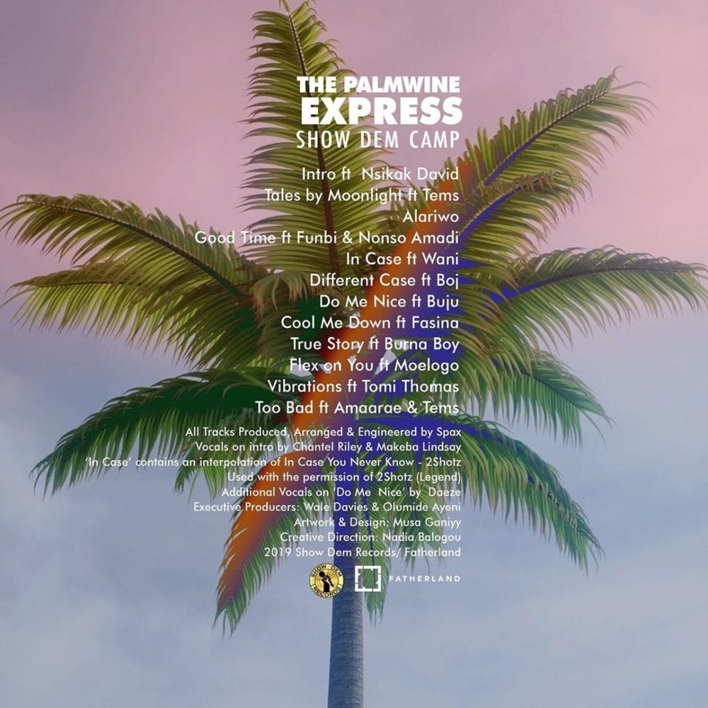 "Tracklist for ""The Palmwine Express"""